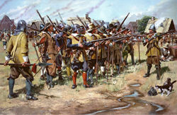 The First Muster in spring 1637