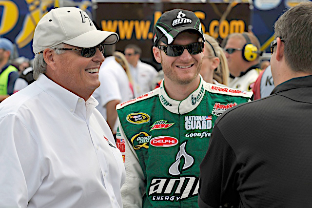 12-14 June, 2009, Brooklyn, Michigan , USA Rick Hendrick and Dale Earnhardt Jr.