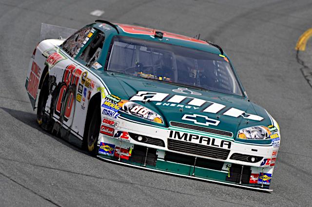 Dale Earnhardt Jr. races the No. 88 National Guard-sponsored NASCAR racecar May 1 at Richmond International Raceway, Va.