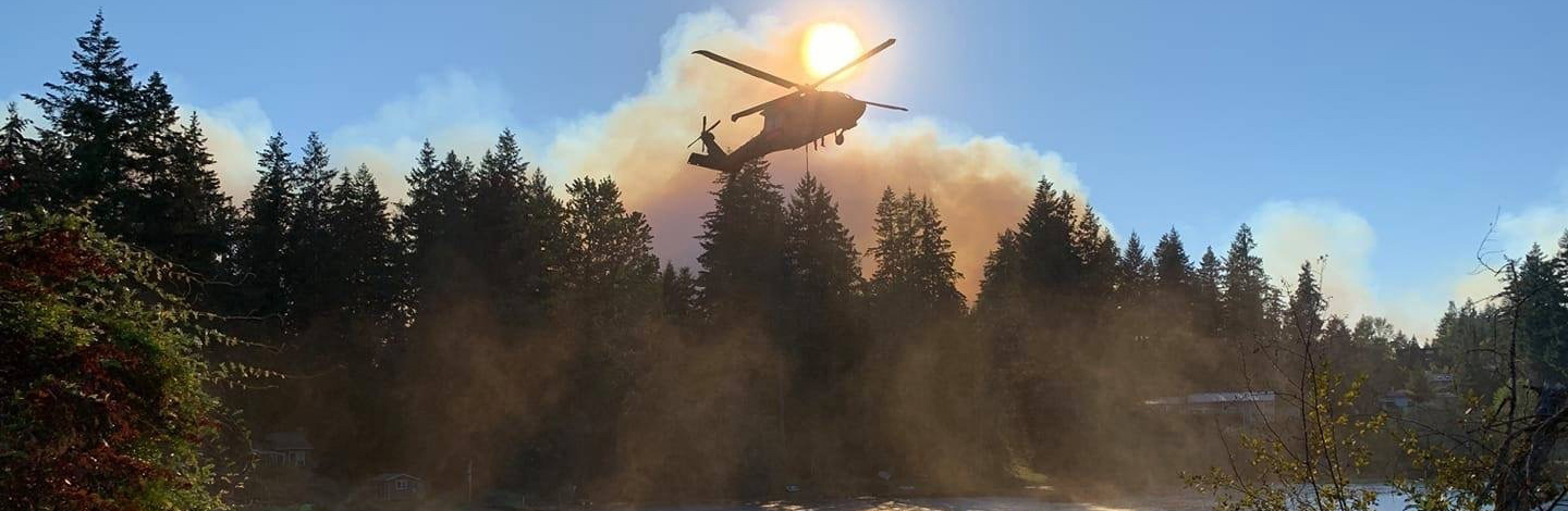 National Guard members help fight fires across Washington