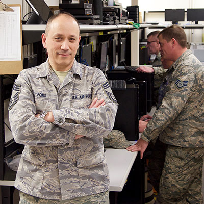 Chief Master Sgt. Bruce Fong, 174th Attack Wing/Communications Flight, New York Air National Guard
