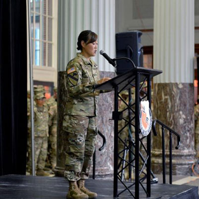 Lt. Col. Tanya Trout, Texas Army National Guard