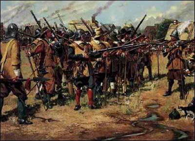 In the spring of 1637 the first musters of the three regiments organized by the General Court on this date were held