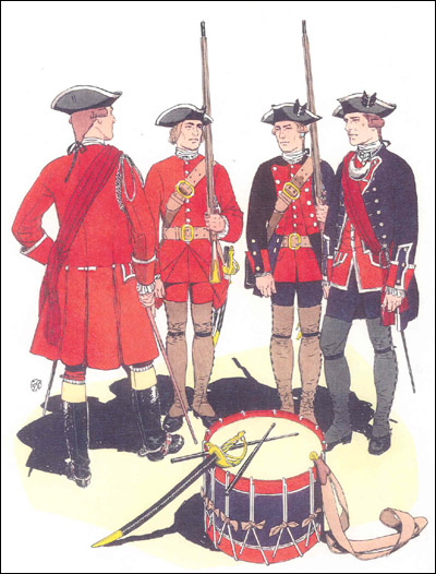 French And Indian War Provincial Uniforms Uniforms of the virginia