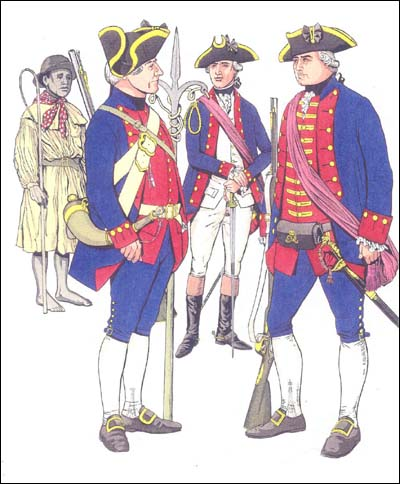 How members of the Charleston Artillery Company dressed as one of the first uniformed volunteer organizations in British North America