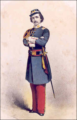 Colonel E.E. Ellsworth of the New York Fire Zouaves.
