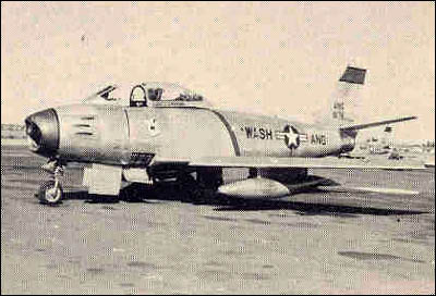 An F-86A Sabre Jet of the 116th Fighter Squadron
