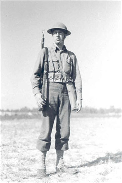 This is how the American soldier, Regular and Guardsman, was dressed and equipped at the time of the 1940 mobilization for World War II