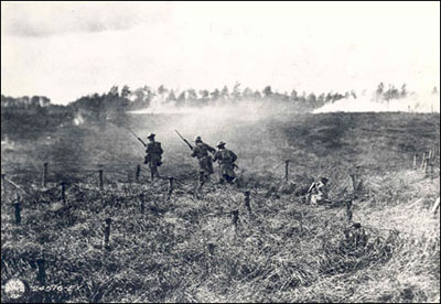In one of the most famous combat photographs to come out of World War I
