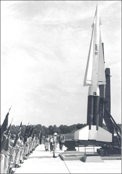Dedication celebration upon activation of the of the new NIKE-HERCULES antiaircraft missile issued to the Guard starting in 1961